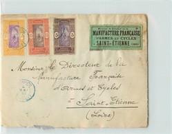 Lettre Du DAHOMEY - Voyagée De Cotonou à St Etienne En 1930 - Dahomey (1899-1944)