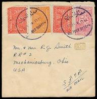 SAUDI ARABIA. C.1950. Port Dharan - USA. Air Fkd Env. - Singapur (1959-...)