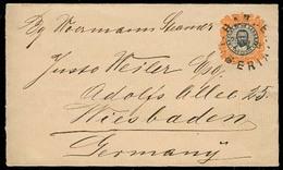 LIBERIA. 1893. Harper - Germany. 10c Stat Env. VF. - Liberia