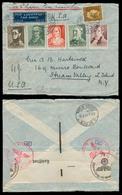 NETHERLANDS. 1941 (16 Aug). Amsterdam - USA. Air Fkd Via Lisbon - USA Clipper. Nazi Censored Multifkd Env. - Niederlande