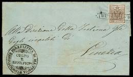 "ITALY Lombardy - Venetia. C.1850. Mantova - Venetia. E. Fkd 30c ""Comisione ISRAELITA Di Mantova"" (xxx). Judaica. Superb - Italy"