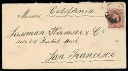 GREECE. C.1889. Patras - USA / San Francisco. Env Fkd 25c Lilac, Border Margin. - Non Classificati