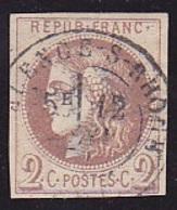 RARE 40A Oblit. Cà Date Signé ROUMET - Voir Verso & Descriptif - - 1870 Emisión De Bordeaux