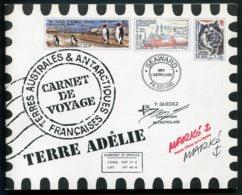 """11600 TERRES AUSTRALES Et ANTARCTIQUES FRANCAISES  C308  """"Carnet De Voyage""""  2001   TTB - Booklets"""