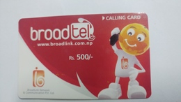 Nepal-BROAD TEL-(rs.500)-(21)-(1031806293)-(card Expires In 30 Day)-used Card - Nepal