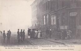 CARTOLINA - POSTCARD - BELGIO - ANTWERPEN - BRABDE DER HOUTSTAPELS 12 SEPTMDER 1911 - INCENDIE DES BOIS - Antwerpen