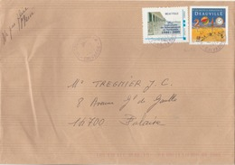 """Trouville : Afft Mixte - TP N° 4452 (Deauville) + Timbre à Moi """"Deauville ... Anniversaiore Du Débarquement."""" Curiosité. - Poststempel (Briefe)"""