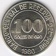 PEROU - 100 SOLES  DE ORO  - 1980 - Pérou