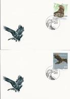 """LIECHTENSTEIN 2019 - EUROPA 2019 -""""AVES - BIRDS/WILDLIFE - VÖGEL - OISEAUX""""- AGUILA REAL O DORADA - 2 FDC Con La SERIE - 2019"""