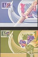 Iceland 1982 Europa: Historical Events, Mi 578-579 On Maximum Cards - 1944-... Republique
