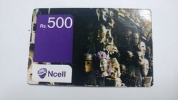 Nepal-NCELL-(rs.500)-(23)-(2327006005266)-()-used Card - Nepal
