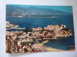 """Cartolina Viaggiata """"PRINCIPAUTE DE MONACO Le Stade Louis II - Le Rocher - Le Cap Martin E L'italie"""" 1972 - Viste Panoramiche, Panorama"""