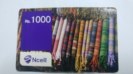 Nepal-NCELL-(rs.1000)-(24)-(2049659711178)-()-used Card - Népal