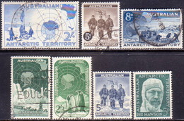 Australian Antarctic Territory 1957-61 SG #1-7 Four Issues Used - Used Stamps