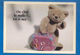 OURS EN PELUCHE - OURSONS - NOUNOURS - ON SE FAIT LA MALLE ?...TOI ET MOI ! - HUMOUR - 10.5 X 15 - GROS CALINS - Ours