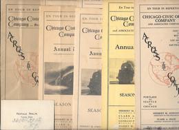 7 Programmes CHICAGO CIVIC OPERA COMPANY De 1923 à 1929 -carte De Visite Trompetiste NATALE NALIN - Programmi