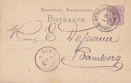 DR Ganzsache K1 Barmen-Rittershausen 1.10.75 - Deutschland