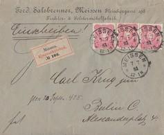 DR R-Brief Mef Minr.3x 41 K1 Meissen 7.7.81 Ansehen !!!!!!!!!!! - Deutschland