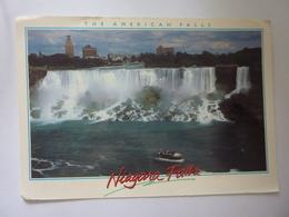 """Cartolina Viaggiata """"NIAGARA FALLS"""" 1993 - Cartoline Moderne"""