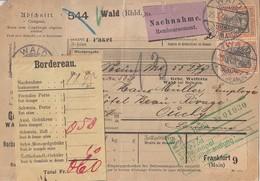 DR NN-Paketkarte Mif Minr.2x 72, 2x 74 Wald (Rhld.) 25.3.05 Gel. In Schweiz - Deutschland