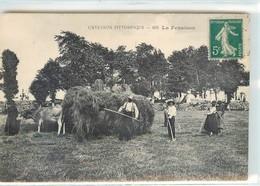 CPA 12 L'Aveyron Pittoresque La Fenaison Les Foins Paysans Attelage Boeuf Paysannes Agriculture - Altri Comuni