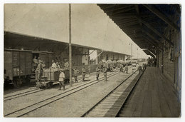 Bahnhof,Eisenbahn - War 1914-18
