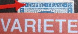 R1917/50 - NAPOLEON III N°14A - LGC 2435 : MONTBELIARD (Doubs) INDICE 3 - VARIETE ➤➤➤ Retouche Légende Sup. - 1853-1860 Napoleon III