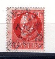 9870 Deutschland Germany Bayern Mi 115, Gest.,  Perfins - Keine Buchstaben Zeichen? Siehe Scan - Bayern
