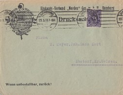 DR Brief EF Minr.230 W Geprüft Hamburg 29.5.23 - Briefe U. Dokumente