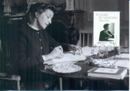 CM-Carte Maximum Card # France-2019 #  Louise De Vilmorin (1901-1969)  Femme De Lettres ,Verrières-le-Buisson - Maximumkarten