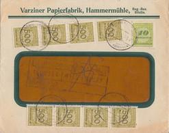 DR Brief Mif Minr.8x 324, 328 Hammermühle 17.11.23 - Briefe U. Dokumente