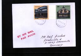 Japan 1998 Interesting Airmail Letter - 1989-... Empereur Akihito (Ere Heisei)