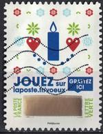 France 2018 Oblitéré Used Timbre à Gratter N° 6 Voeux Bougie Et Cœurs - France