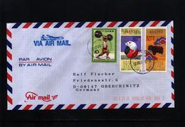 Japan 1997 Interesting Airmail Letter - 1989-... Empereur Akihito (Ere Heisei)