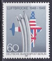 Deutschland Germany Berlin 1989 Geschichte History Blockade Embargo Luftbrücke Flugzeuge Fahnen Flags, Mi. 842 ** - [5] Berlin