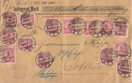 DR Wertbrief Mif Minr.309,19x 317 Hannover 13.10.23 Gel. Nach Cottbus - Deutschland