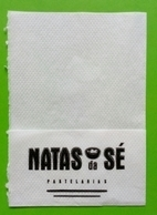 Servilleta,serviette .Natas Pastelaria. Braga.Portugal - Serviettes Publicitaires
