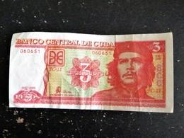 BILLET BANQUE CUBA 3 PESOS 2006 CHE ERNESTO GUEVARA - Cuba