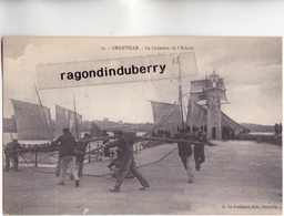 CPA - 50 - GRANVILLE (Manche) - Le Cabestan De L'écluse - CARTE PEU COMMUNE Vers 1905 1910 Bel état - édit Le Boulanger - Granville