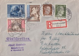 DR R-Brief Mif Minr.782,794,820,821,822 Aschaffenburg 20.3.43 - Briefe U. Dokumente