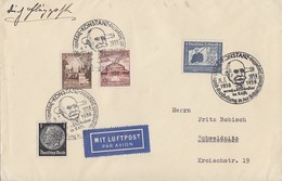DR Luftpost-Brief Mif Minr.512,665,668,669 SST Konstanz 8.7.38 - Deutschland
