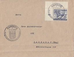 DR Brief EF Minr.814 UER SST Hamburg 21.6.42 - Briefe U. Dokumente