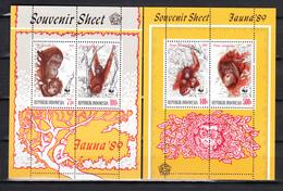 Indonesia 1989,4V In 2 Blocks,WWF,monkeys,apen,affen,singes,monos,scimmias,MNH/Postfris,(L3456) - Apen