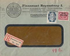 DR Dienst R-Brief Mif Minr.D43, D49 Regensburg 6.2.22 Geprüft - Dienstpost