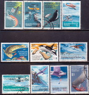 Australian Antarctic Territory 1973 SG #23-34 Compl.set Used - Used Stamps