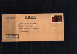 Aitutaki 1986 Interesting Airmail Letter With O.H.M.S.overprint - Aitutaki