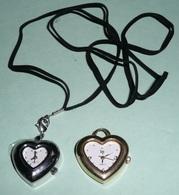 Lot 2 Montres à Quartz Pendentifs En Forme De Coeur, Dont Une Neuve Et Une LIP Pendentif - Montres Bijoux