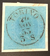 Sardegna 1853 20c Azzuro Sa. 5 Very Fine On Piece TORINO (Italia Italy Sardaigne Sardinia Italie Antichi Stati Italiani - Sardaigne
