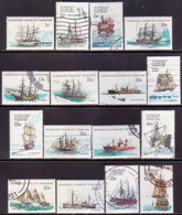 Australian Antarctic Territory 1979-81 SG #37-52 Compl.set Used Ships - Used Stamps