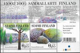 2004 Finnland Mi. Bl 35 **MNH UNESCO-Welterbe: Friedhof Von Sammallahdenmäki Mit Grabstätten Aus Der Bronzezeit - Unused Stamps